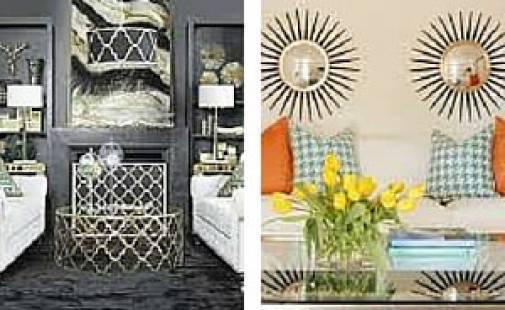 Sharp geometric decor adds style & flair