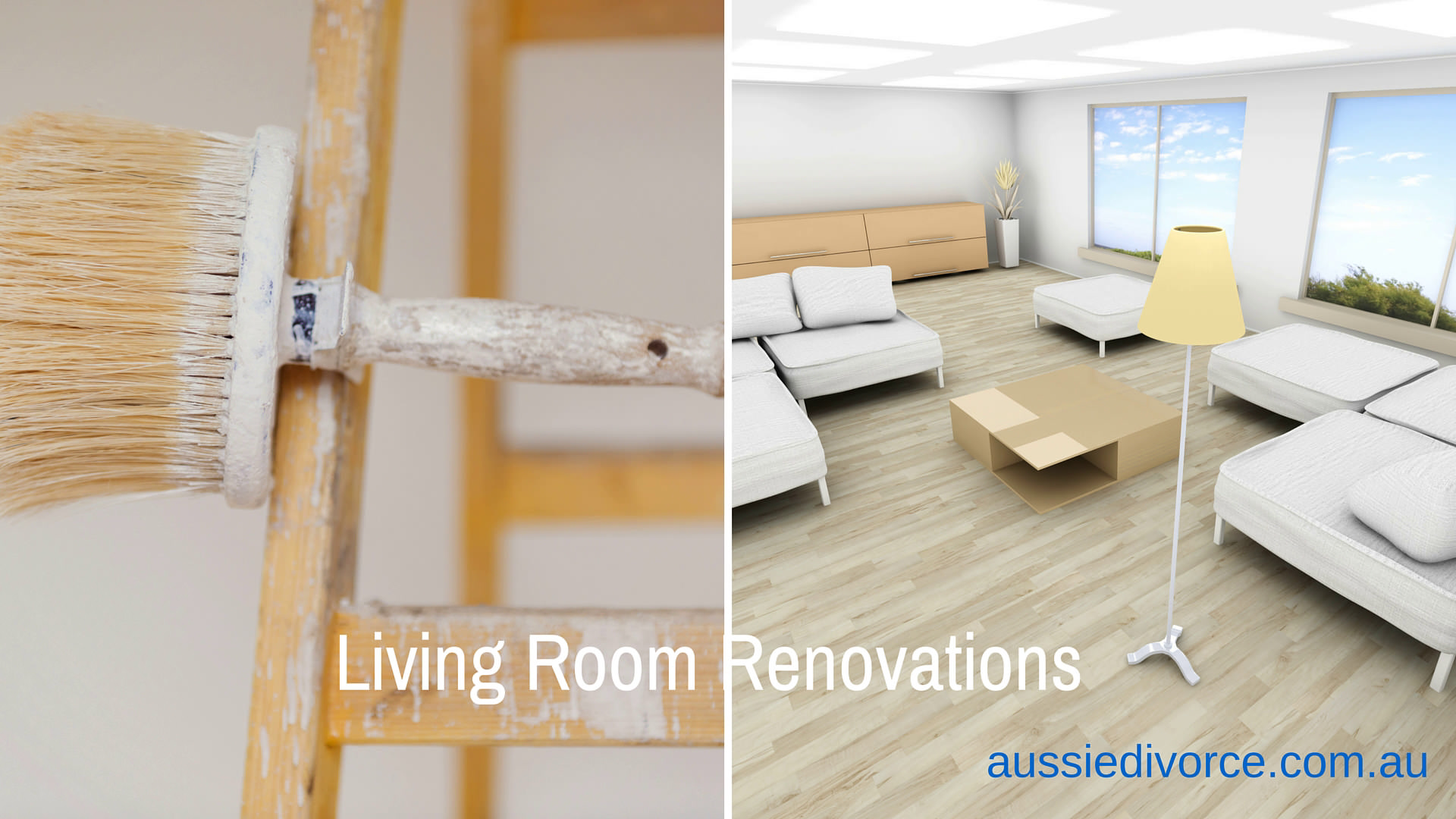 living room renovation by aussiedivorce.com.au